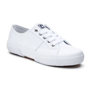 """Chaps Shoes - CHAPS """"Caelyn"""" White Canvas Oxfords"""